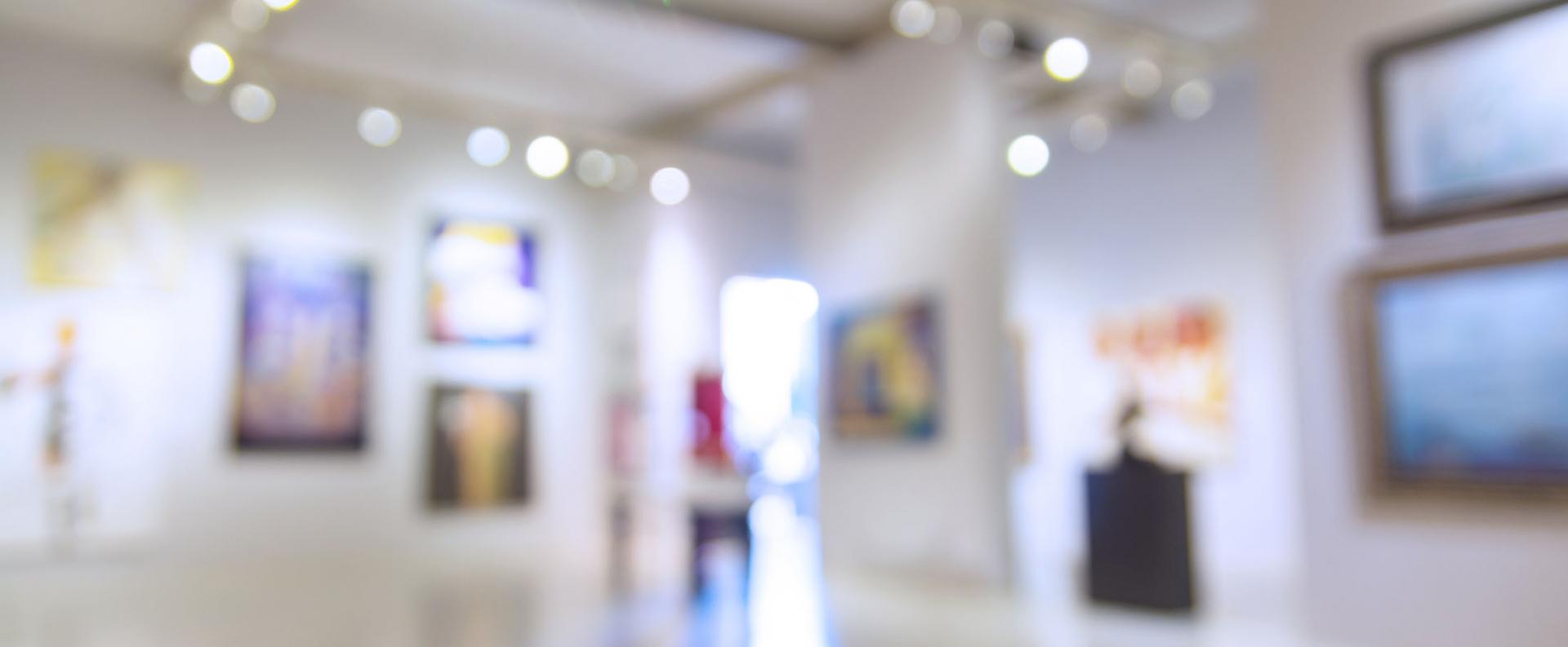 Abstract Blur Defocus Background of Art Gallery Museum